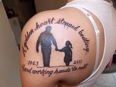 in memory of dad tattoos