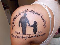 in memory of dad tattoos
