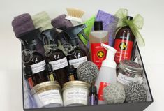 Wedding and bridal shower gifts! Natural home cleaning kit!  Recipes for all of this in the links.