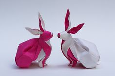 Twin Rabbits | Flickr - Paper origami