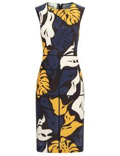 Флот Креп Печатных Платье Миди | Седрик Шарлье | Avenue32