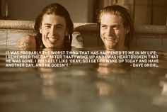 Dave Grohl quote on Cobains suicide. Dave Grohl and Kurt Cobain - Another Day Foo Fighters Nirvana, Foo Fighters Dave Grohl, Kurt Cobain Quotes, Nirvana Kurt Cobain, Dave Grohl Quotes, Donald Cobain, Smells Like Teen Spirit, Idole, Nostalgia