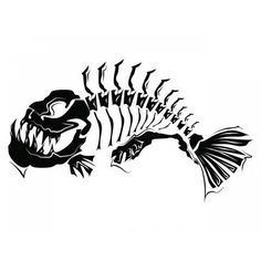 fish bone, Hand Painted, Black, Line PNG Image Silhouette Tattoos, Animal Silhouette, Skull Silhouette, Fish Drawings, Art Drawings, Arte Punk, Fish Skeleton, Fish Design, Fish Art