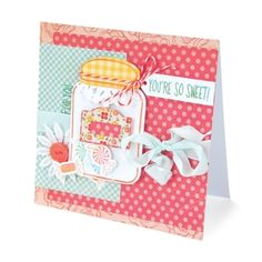 You're So Sweet Card using the new Sizzix jar framlits.