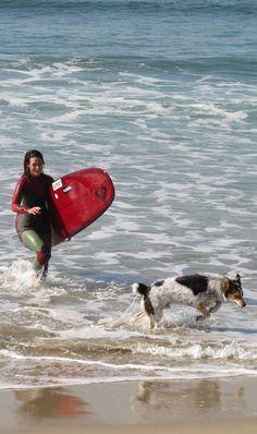 Kassia Meador & her dog Iruka