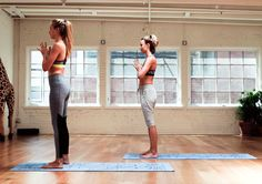 Two words: drop, back. http://www.thecoveteur.com/partner-yoga-moves-sky-ting/