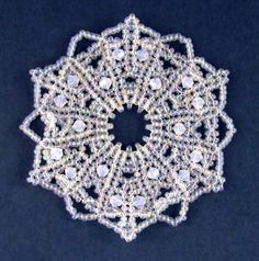 Beaded Snowflake #60 Ornament Pattern!