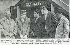 Billy visiting the hospital victims after Eddie Cochran's  death it was Billy's  20th birthday
