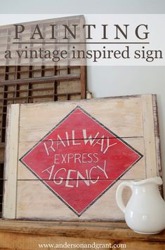 @girlgrowsapples :anderson + grant: Painting A Vintage Sign That Has Meaning
