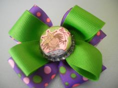 Princess Bottle cap Hair Bow by ang744 on Etsy, $5.00