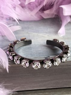 A personal favorite from my Etsy shop https://www.etsy.com/listing/510047225/swarovski-crystal-cuff-bracelet-85mm