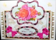 Lilac and peach roses over the edge on Craftsuprint designed by Carol Dunne - made by Mary Murphy - Printed on good quality card paper, cut out and layered the elements with foam pads, I trimmed in gold peel off to finish around the edges and added the caption  - Now available for download!