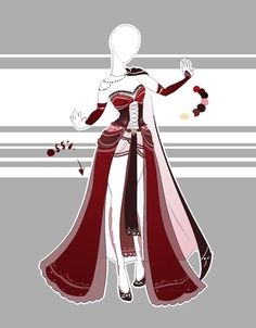 ::Outfit Adoptable by Scarlett-Knight on DeviantArt Dress Drawing, Drawing Clothes, Outfit Drawings, Dress Sketches, Fashion Sketches, Anime Outfits, Cool Outfits, Vetements Shoes, Style Feminin