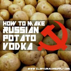 Ingredients: 4 Pounds 2 row malted barley, 25 Pounds potatoes, gallons water, 2 packets of bread yeast. Equipment: mashing pot, copper or stainless still. Vodka Recipes, Beer Recipes, Alcohol Recipes, Cooking Recipes, Homemade Wine Recipes, Snacks Recipes, Potato Recipes, Homemade Alcohol, Gastronomia