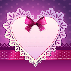 Sweet Valentine Day hearts Cards vector 03 - Vector Card free download