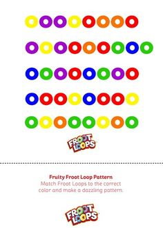 Fruity Froot Loop Pattern is a great way for your kids to learn patterns and matching.