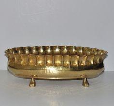 Vintage Huge Egidio Casagrande Hand Hammered Brass by Abundancy
