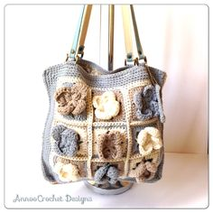 Sandy Beach handbag by AnnooCrochet Designs