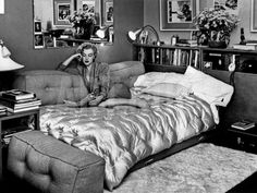 Marilyn Monroe at Home in Hollywood in 1962 Photo at Art.com