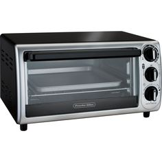 Hamilton Beach - 4-Slice Toaster Oven - Black, Silver, 31122