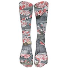 Cats Riding Sharks Knee High Graduated Compression Socks For Women And Men - Best Medical, Nursing, Travel Flight Socks - Running Fitness -- Be sure to check out this awesome product. (This is an affiliate link) #MedicalSuppliesEquipment