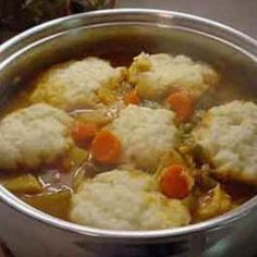 This is the only way I knew to make dumplings before I came to the south. I still use this recipe and it goes great if your doing a big pot of soup or stew. Slow Cooker Recipes, Crockpot Recipes, Soup Recipes, Chicken Recipes, Cooking Recipes, Recipe Chicken, Cooking Pasta, Cooking Games, Lasagna