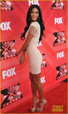 Nicole Scherzinger: 'X Factor' Press Conference!: Photo Nicole Scherzinger strikes a pose on the red carpet of The X Factor press conference held at CBS Televison City on Monday (December in Los Angeles. Beautiful Legs, Gorgeous Women, Beautiful Dresses, Nicole Scherzinger Body, Lauren London, Hot High Heels, Tight Dresses, Sexy Legs, Hot Girls