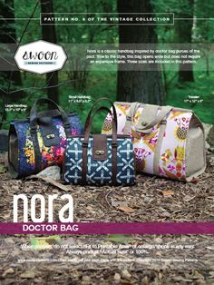 Swoon Patterns: Nora Doctor Bag  PDF Vintage by SwoonPatterns