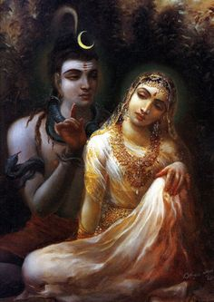 Lord Shiva instructs his consort Sati in spiritual knowledge