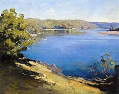 The Athenaeum - Hawkesbury River (Penleigh Boyd - ) Australian Painting, Australian Artists, Landscape Art, Landscape Paintings, Landscapes, Forest Painting, Painting Art, Great Paintings, Dream Art