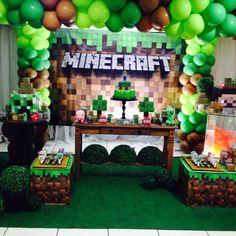 Festa minecraft Arthur - Minecraft World Minecraft Birthday Decorations, Diy Minecraft Birthday Party, Minecraft Birthday Invitations, Minecraft Cake, Minecraft Party Ideas, Minecraft Crafts, Minecraft Skins, 7th Birthday Party For Boys, Partys