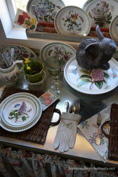 Tabletop Gardening with Portmeiron Botanic Garden.  Like putting silverware in gardening glove