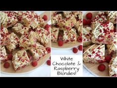 White Chocolate & Raspberry Blondies Recipe | Jane's Patisserie - YouTube