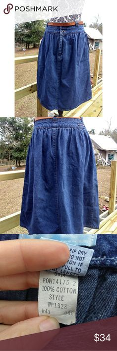56158989c54c5 Calvin Klein Size 12 Vintage High Waist Jean Skirt Very good condition.  Small fray near