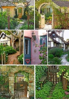 garden-artistry: Cottages in Carmel, CA