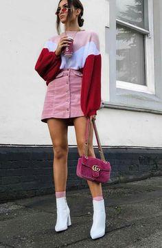 33 Looks con Botas Blancas para Lucir como Toda una 'Fashion Girl' 33 Outfits with White Boots to Look Like a 'Fashion Girl' Pink Outfits, Mode Outfits, Chic Outfits, Trendy Outfits, Vintage Outfits, Summer Outfits, Outfits For Girls, Gucci Outfits, Summer Dresses