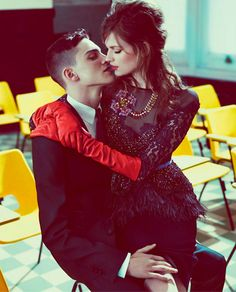 Glove Fashion: Bette Franke in DSquared2 Leather Elbow Length Gloves. DSquared2 Fall/Winter 2012/13 Campaign.