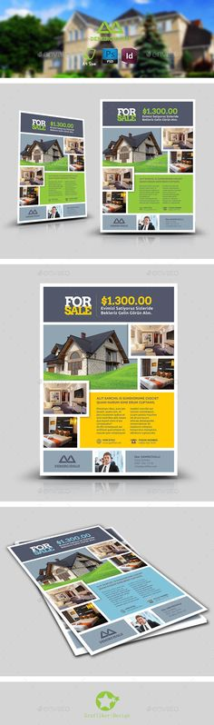 Real Estate Flyer | Live Preview and Download: http://graphicriver.net/item/real-estate-flyer-templates/8939450?WT.ac=category_thumb&WT.z_author=grafilker02&ref=ksioks