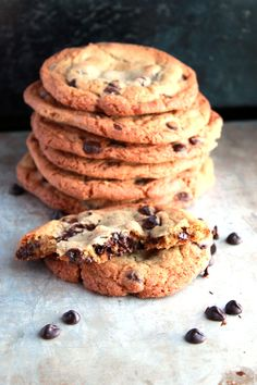 Classic Chocolate Chip Cookies - my idea of a perfect cookie. They are crisp on the outside, soft and chewy on the inside and full of buttery goodness. .
