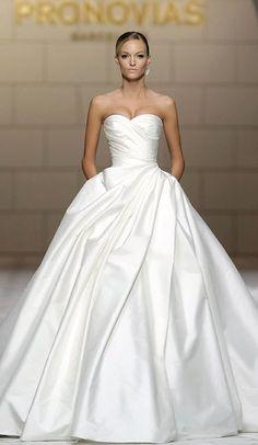 Wedding dress idea; Featured Dress: Pronovias