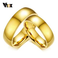 Classic Wedding Rings for Women Men Gold Tone Stainless Steel Couple Rings Simple Plain Bands Anniversary Gift Classic Wedding Rings, Wedding Rings For Women, Rings For Men, Silver Wedding Bands, Bridal Jewelry, Men's Jewelry, Jewellery, India Jewelry, Fashion Jewelry