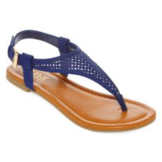 <p>Kick back in comfort as you wear our suede thong sandals from a.n.a.</p><ul><li>synthetic fax-suede upper</li><li>