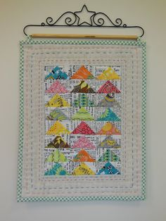 Quilting By Celia: Modern Mini Quilt & fabric Shopping