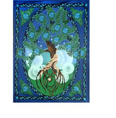 Wicca Supplies, Pagan Supplies, Witchcraft Supplies, Spiritual Supplies - New Awakening - Tree of Life Tapestry, $24.99 (http://www.wiccasupplies.ca/tree-of-life-tapestry/)