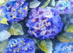 This work comes to us from Anne Maurer. This is a wonderful watercolor painting of Hydrangeas. She did this with a mix of Winsor & Newton and American Journey artists' watercolors on Arches 140 lb. watercolor paper. She also used our Golden Fleece Brushes. Thank you for sharing! #watercolorpainting #artwork