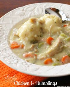 Stovetop Chicken & Dumplings in 30 minutes