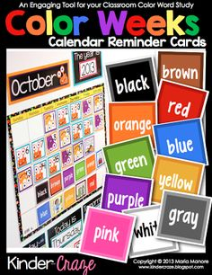 Kinder-Craze: A Kindergarten Blog: Making Color Words FUN for All {FREEBIE}