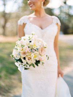 Gorgeous bouquet: http://www.stylemepretty.com/2015/05/25/elegant-emerald-gold-military-wedding/   Photography: Graham Terhune - http://www.grahamterhune.com/