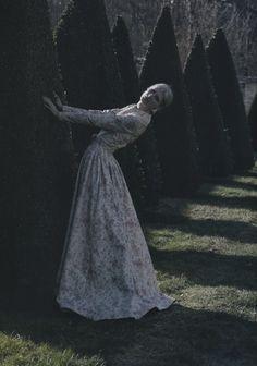 Deborah Turbeville for Valentino Haute Couture.  spring 2012.  vogue italia.