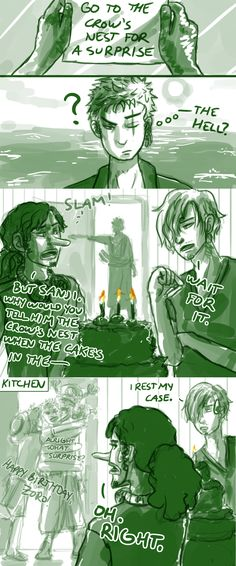 "| ""Happy Birthday Zoro"" by CodeNameZimbabwe on DeviantArt 